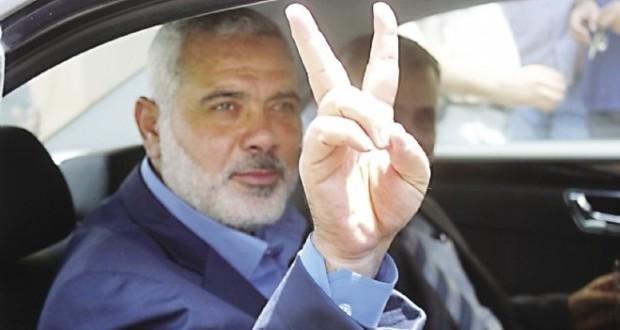 هنية فور وصوله الى قطاع غزة يؤكد اصرار حركته على اتمام المصالحة الفلسطينية