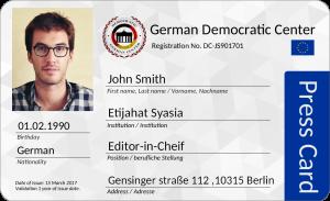 بطاقة صحفي